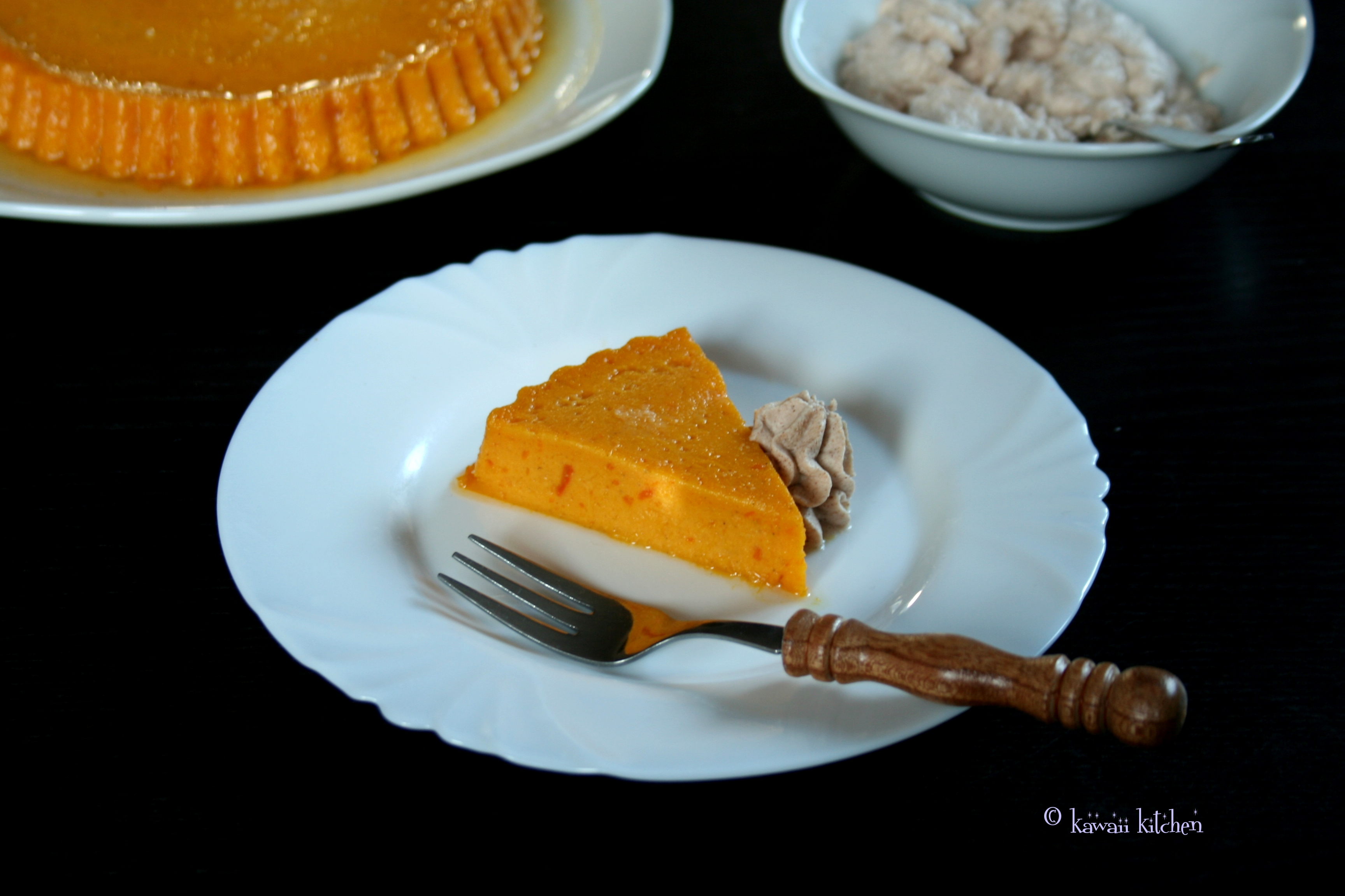 Pumpkin Pudding with cinnamon whipped cream | kawaii kitchen