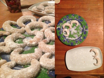 xmas cookies - before and after