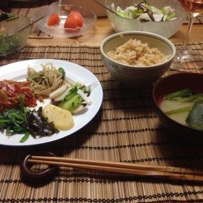 Homemade washoku (japanese style dish)